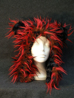 Brown, Red & Black Wisps  with Black Swirl