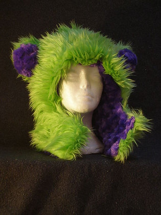 Lime with Purple Plush