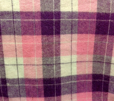 Pink & Purple Flannel {Inner-Fabric}