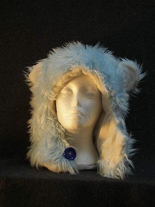Light Blue with White Plush