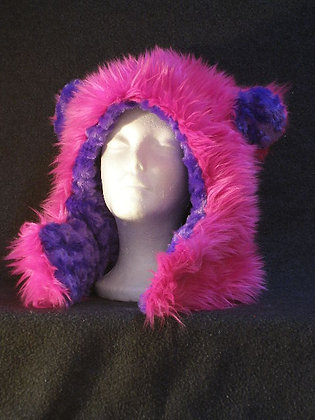 Hot Pink with Purple Whirly Plush