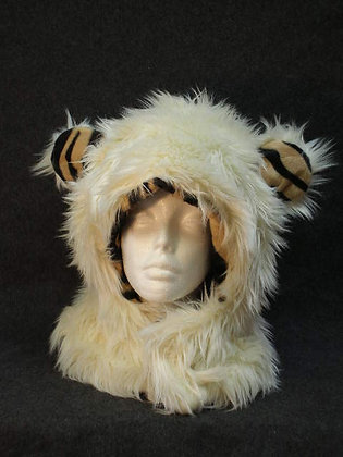 White with Tiger Fleece