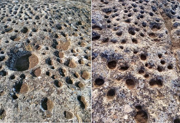 Campo de cazoletas-Yacimiento La Cava de Gacinarro