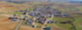Vista aérea de Osa de la Vega (Cuenca)