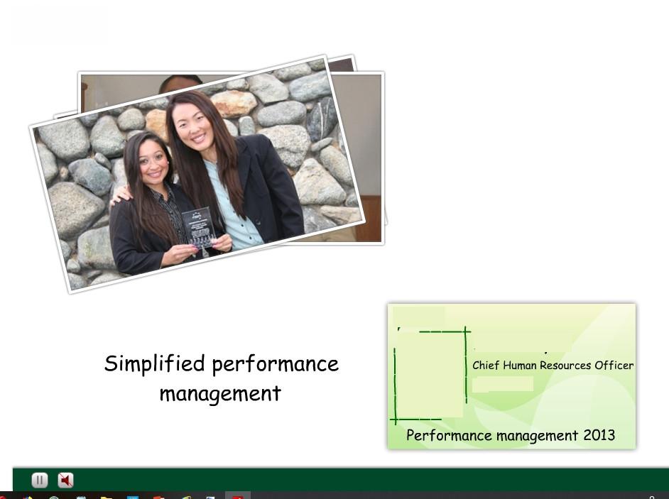 Performance Management flash based course
