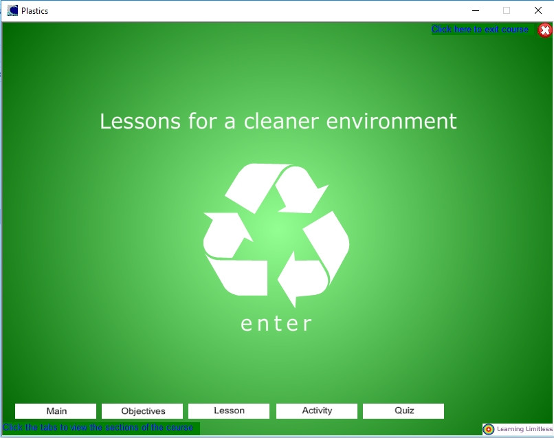 Lesson screen
