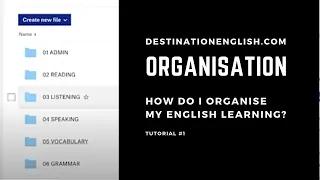 How Do I Organise My English Study?