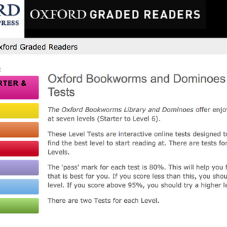 graded readers reading test homepage.png