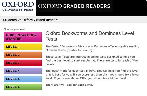 Oxford Bookworm Level Chart