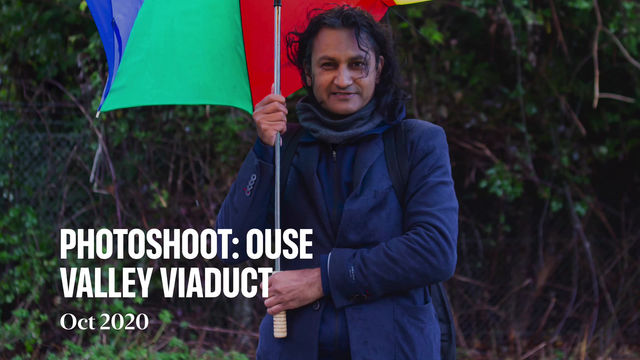 PHOTOSHOOT: A MAN PREPARED (SORT OF) At 'Ouse Valley Viaduct' (Haywards Heath, UK)