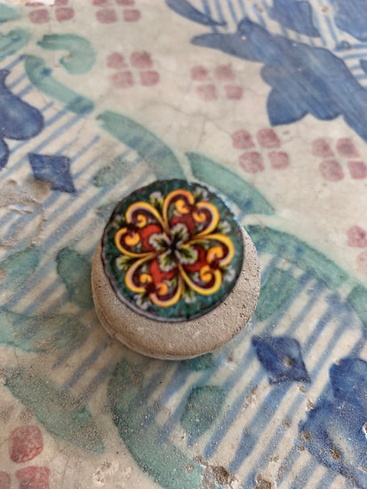 Anello Caltagirone ceramica siciliana