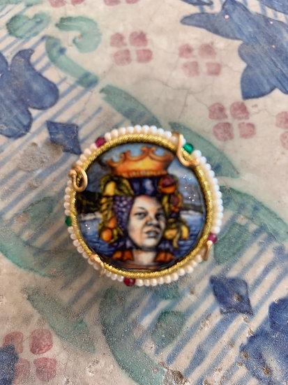 Anello ceramica Caltagirone siciliano