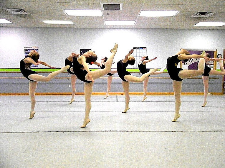 Ballet dancers in class at Mary Lorraine's Dance Center