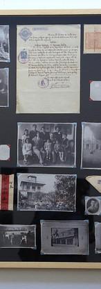"""""""Las semillas arraigan en la tierra"""" Collage de documentos, fotos y excluidos."""