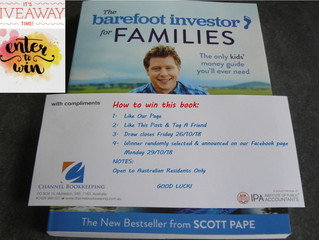 "GIVEAWAY TIME! Enter the competition to win ""The Barefoot Investor for Families"" book by S"