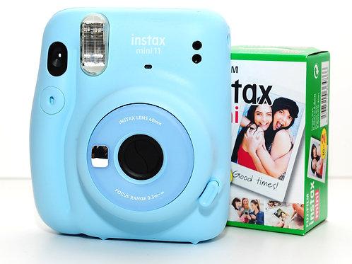 Instax Mini 11 BLUE +1 PACK 10 VUE OFFERT