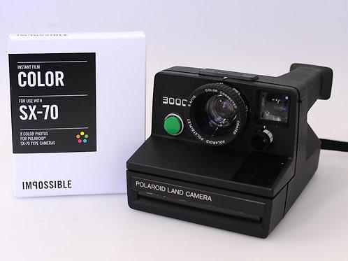 Polaroid 3000 sx70 + 1 Film Couleur sx70