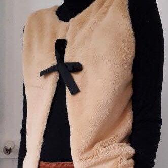 Gilet de berger (femme) - Velours beige
