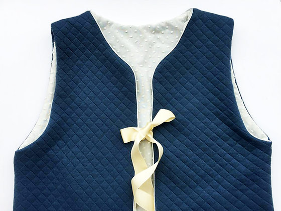 Gilet de berger (femme) - Carillon bleu