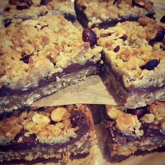 Nutella Crumble Bars 🍫🌰 Happy Thursday