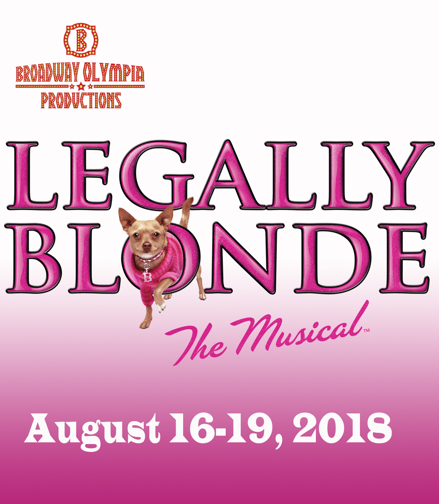 Legally Blonde August 2018 Olympia