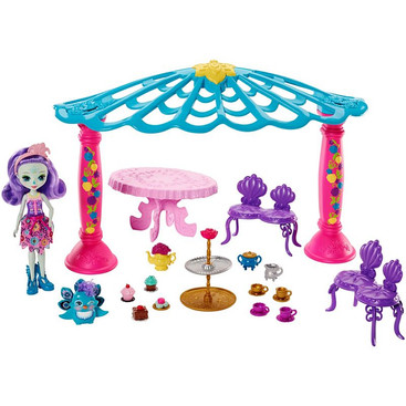 Enchantimals Garden Gazebo Playset + Patter Peacock Doll & Flap Figure