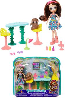 Enchantimals Slow-Down Salon & Sela Sloth Doll
