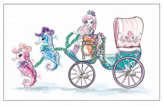 Enchantimals Seahorse Carriage Sandella Seahorse Doll and Playset