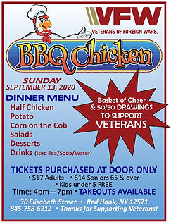 2020 VFW Chicken BBQ Flyers  800px for w