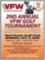 2020 VFW Golf Tournament Flyers 800px fo