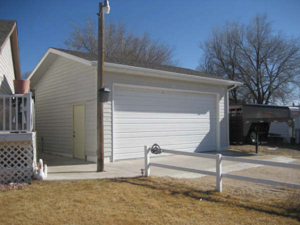 Detached Garage with House