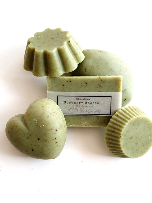 'Rosemary Rhassoul' solid shampoo bar