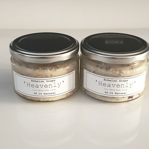 'heavenly' oily detox body scrub'