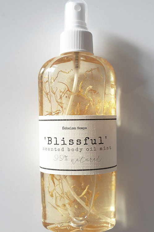 'Blissful scented body oil'