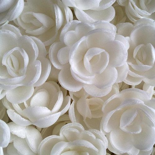 Вафельные цветы: роза большая 56шт