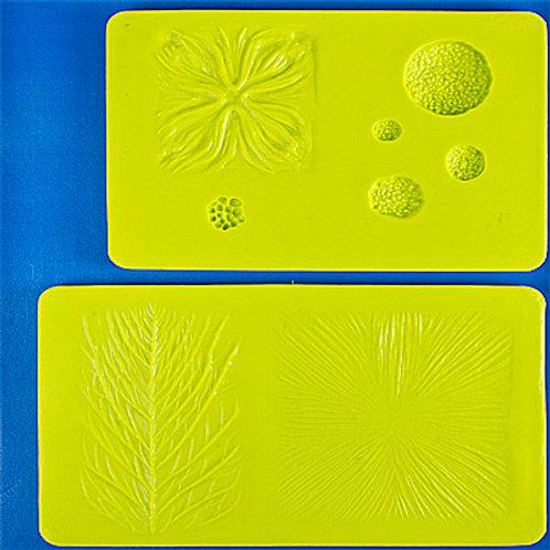 Набор молдов д/оттиска цветов,2 шт силикон