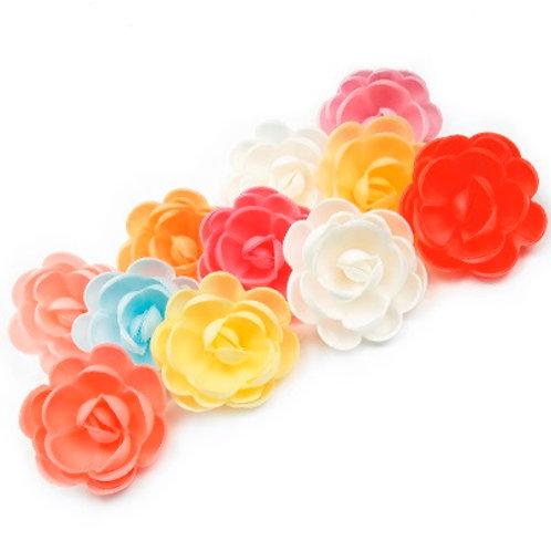 Вафельные цветы: роза большая сложная 28шт