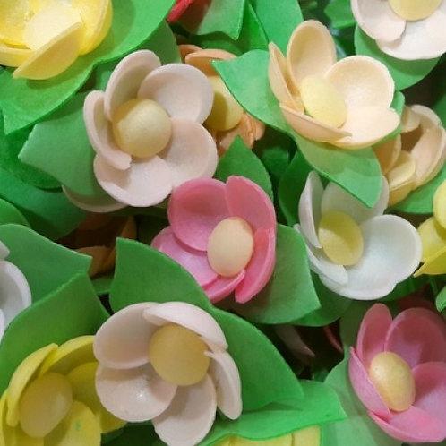 Вафельные цветы: кувшинки на трилист. 80шт