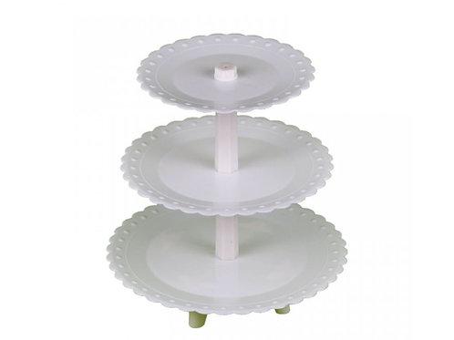 Подставка 3-ярусная стержень d20*30*40 см,пластик