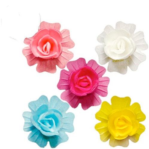 Вафельные цветы: шиповник махровый 80шт