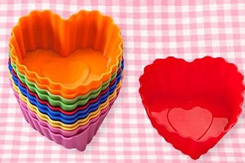 Форма силиконовая Капсулы /сердце/ d7*3 см