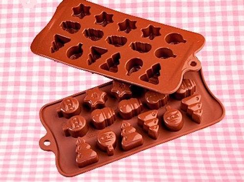 Форма силиконовая д/шоколада 031 d21*10,5 мм РОЖДЕСТВО
