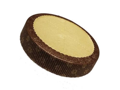 Форма бумажная ламинир,коричневая пирог 185/35