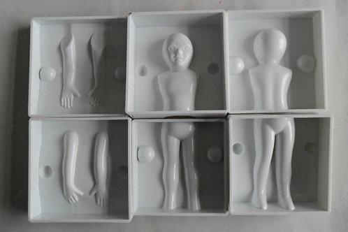 Форма пластиковая д/тела ребенка h12 см