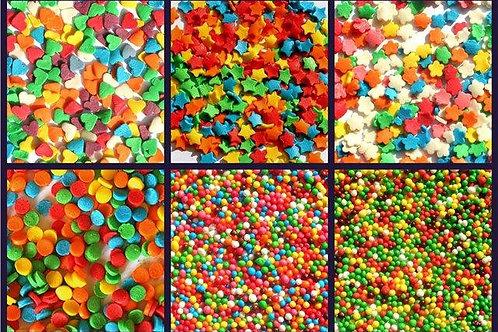 Полевые цветы, звезды, конфетти, сердечки (Россия)
