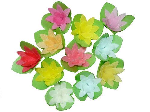 Вафельные цветы: кактусы на трилист. 200шт