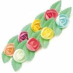 Вафельные цветы: пион на трилист. 180шт