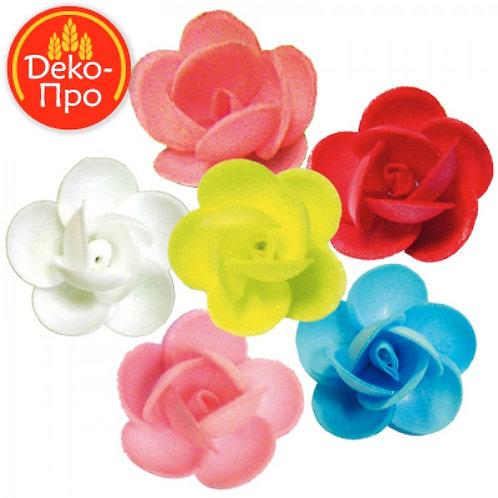 Вафельные цветы: фиалки 160шт