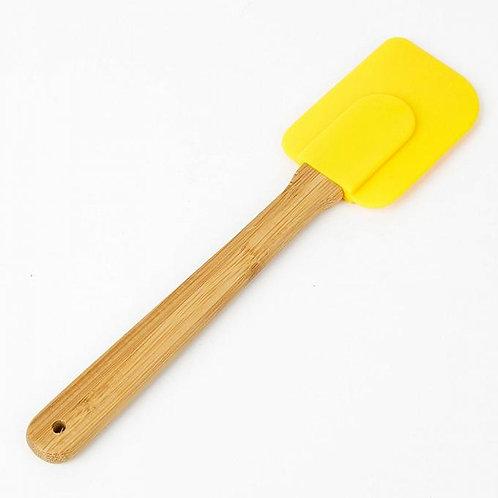 Силикон.лопатка кондит. 24,4 *6,3 см с деревянной ручкой