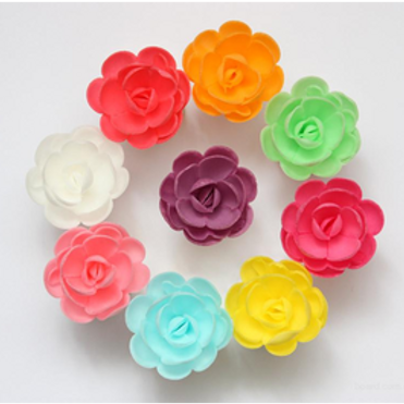 Вафельные цветы: роза малая сложная 80шт